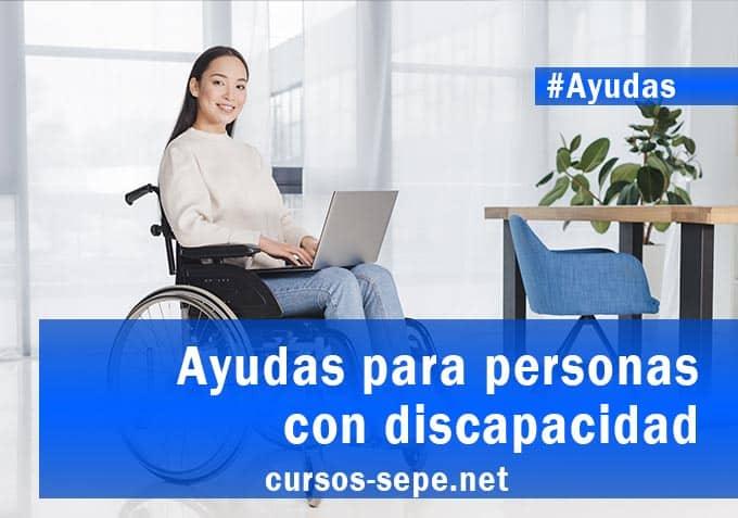 Ayudas personas discapacidad España