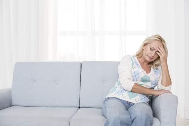 Mujer viuda triste pensión